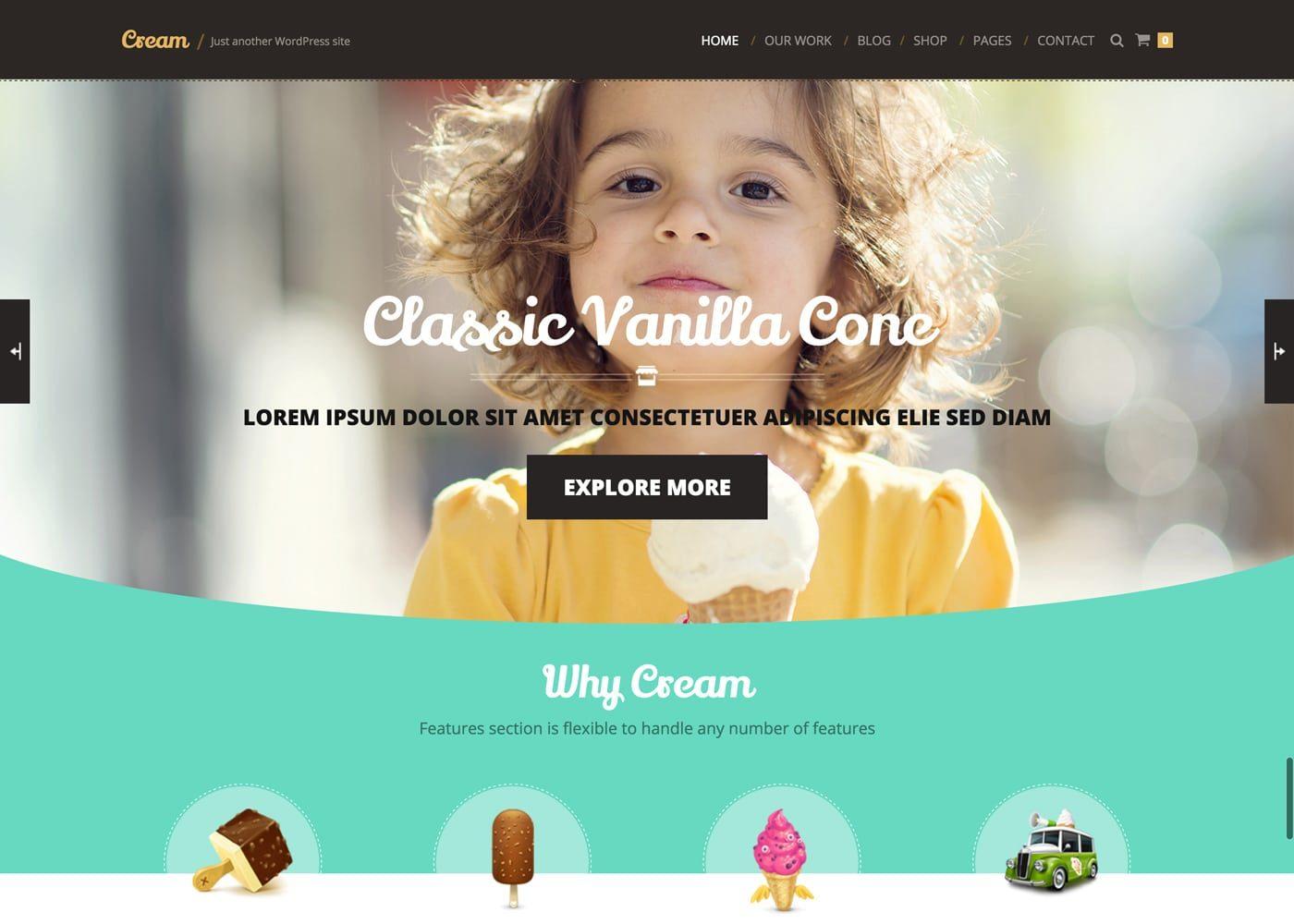 Cream WooCommerce WordPress Theme
