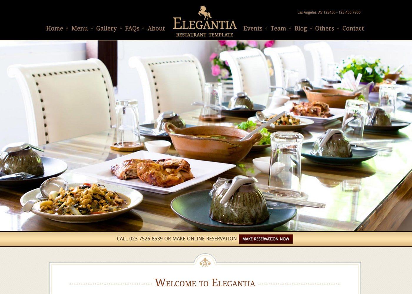 Elegantia WordPress Theme