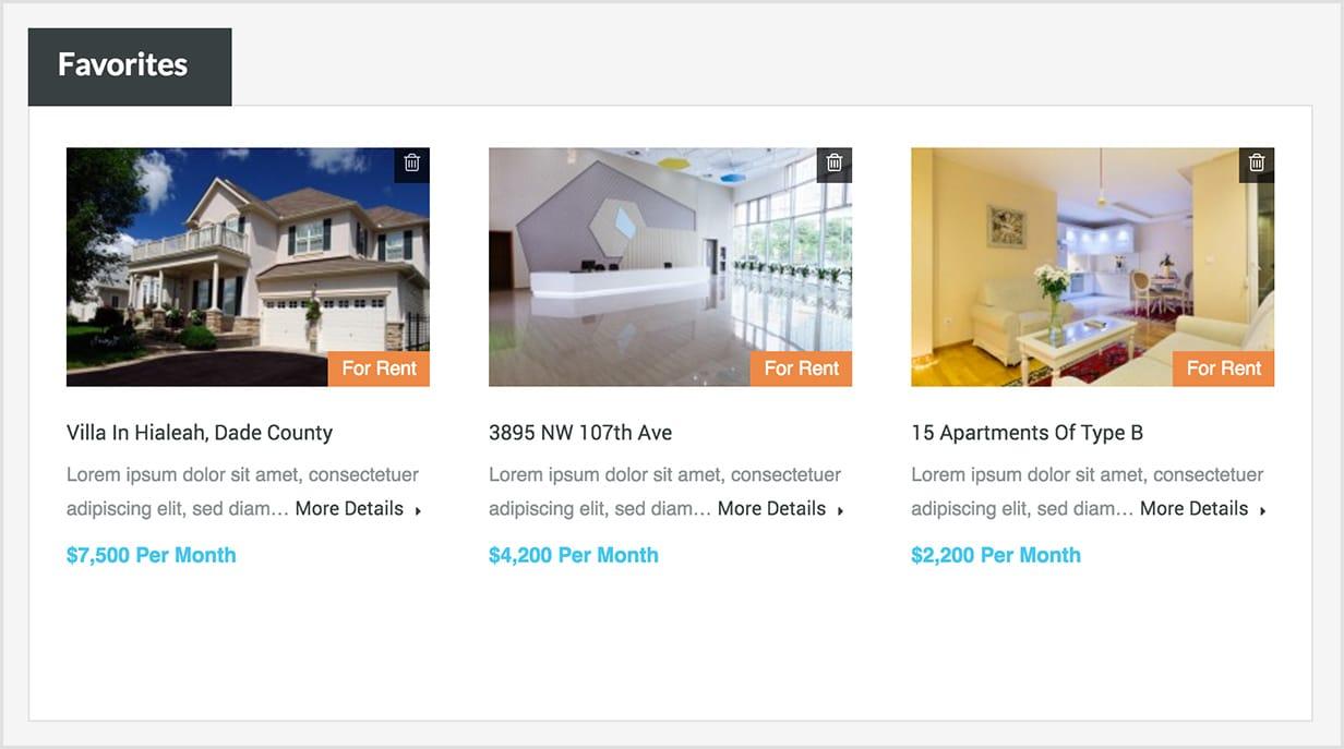 Favorite Properties