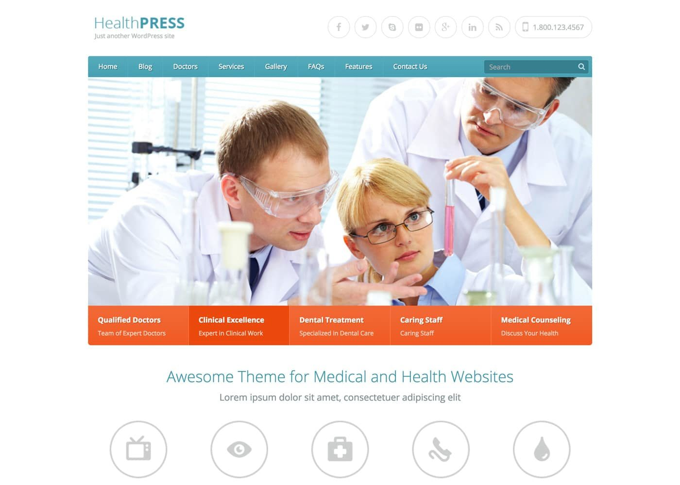 HealthPress WordPress Theme