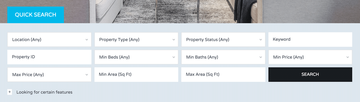 Advanced and Customizable Search for Real Estate