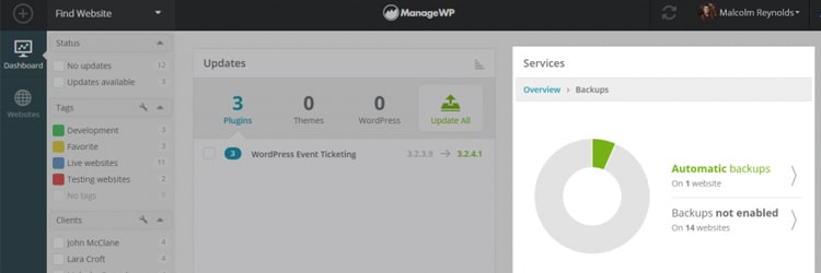 managewp orion backups