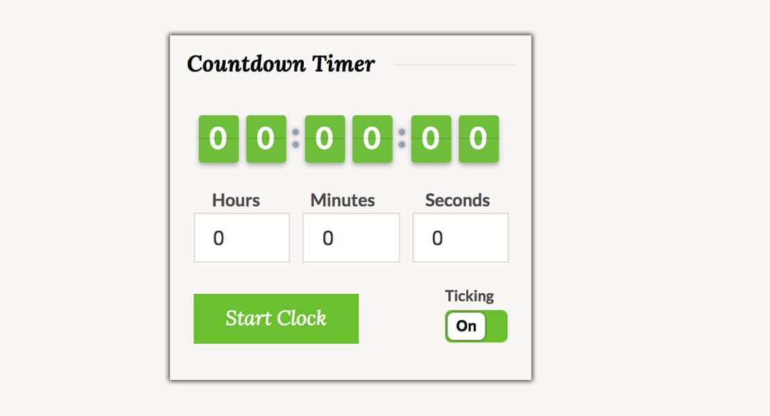 Countdown Timer Functionality