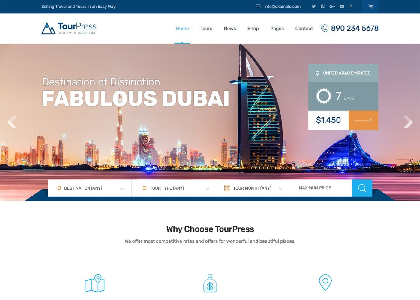 TourPress WordPress Theme
